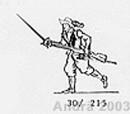 Musketier vorgehend