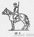 Streifenpolizist zu Pferd, 1956 / Grenzpolizei